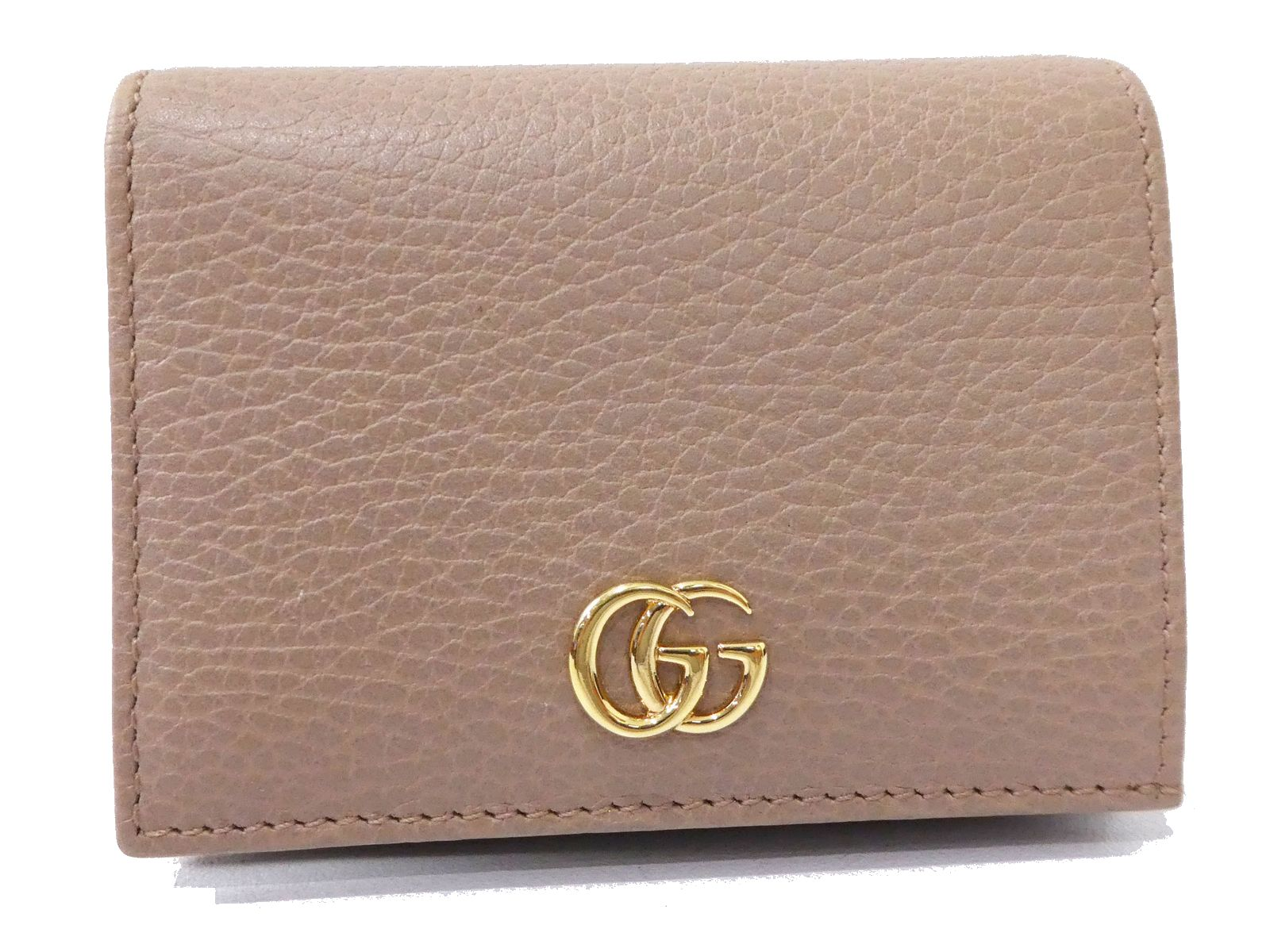318867921c3 Details about Auth GUCCI Leather GG Marmont Coin Purse Card Holder Case Pink  Brand new C1585